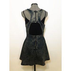 Minkpink Backless Stone Washed Denim Dress